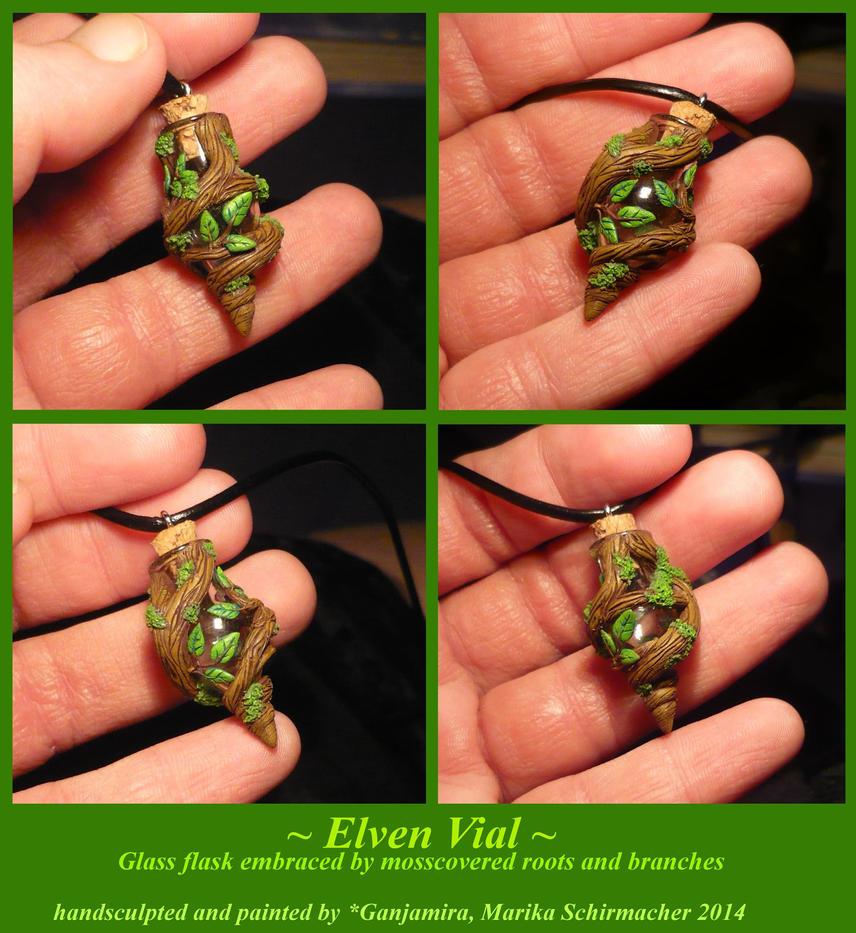 Elven Vial - handmade Flask Pendant by Ganjamira