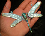 Opalescent Dragonfly - handmade Necklace