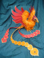 Cas the Phoenix - Posable Art Doll by Ganjamira