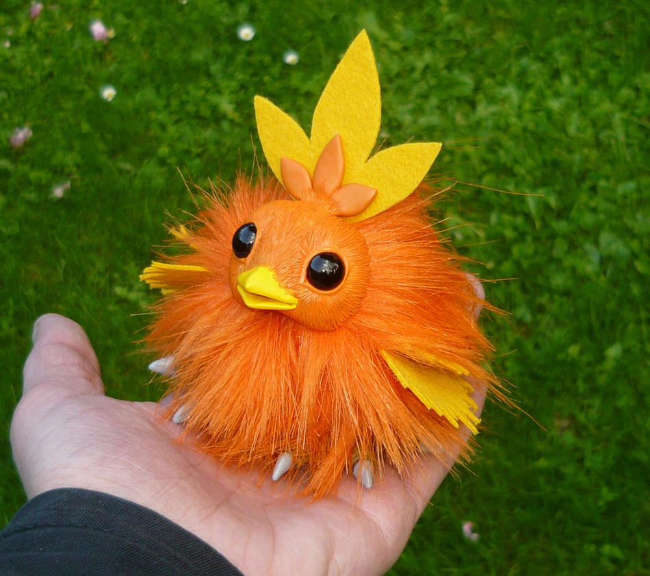 Tiny Torchic - handmade Pokemon Artdoll by Ganjamira