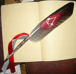Silver Creed - handpainted featherquill