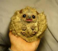 Baby Hedgehog - handmade Artdoll by Ganjamira
