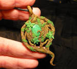 Emerald Heart - handmade Pendant with real Emerald