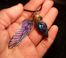 Vial of the Nightfairy - handmade Pendant by Ganjamira
