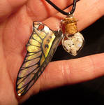 Opalescence - Bottlecharm filled with Opals + Wing