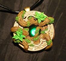 Heart of the sacred Forest - handmade Pendant by Ganjamira