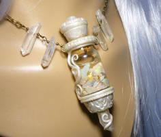 Vial of Eternal Light - handmade Necklace by Ganjamira