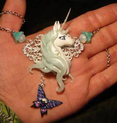 The Last Unicorn - handmade Necklace by Ganjamira
