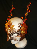 Autumn Dryad - Fantasy Mask by Ganjamira