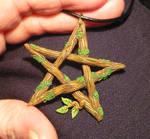 Pentagram of the Darkwood Witch - handmade Pendant