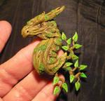 Greenwoods Guardian - handmade Dragon Pendant