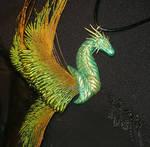 Viridian Guardian - handcrafted Dragonpendant