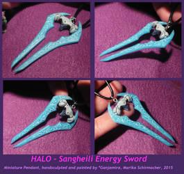 HALO - Sangheili Energy Sword - handmade Pendant