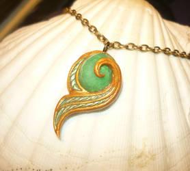 Kokiri Emerald - Pendant with real Emerald by Ganjamira