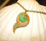 Kokiri Emerald - Pendant with real Emerald