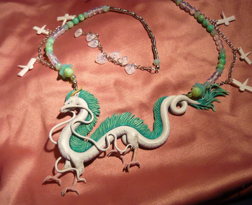Spirited Away Haku The Dragon Necklace By Ganjamira On Deviantart
