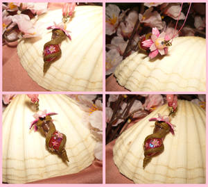 Sakura Vial - handmade Bottle Necklace by Ganjamira