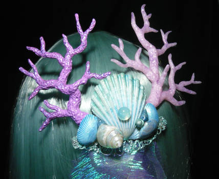 Calypsos Waves - Hairclip with handsculpted Corals