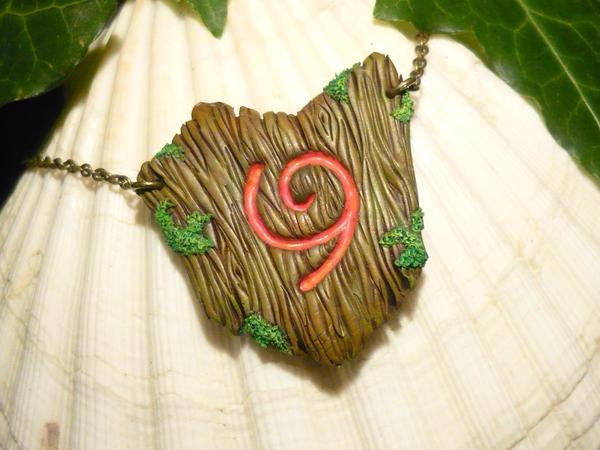 Deku Shield - handcrafted Necklace by Ganjamira