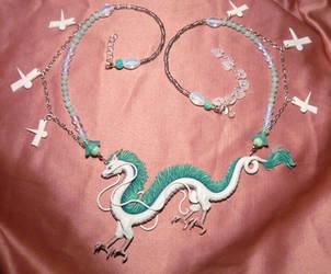 Spirited Away: Haku the Dragon - Necklace III by Ganjamira