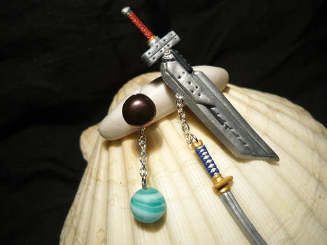 FF-VII-AC: Materias and Swords - Earrings