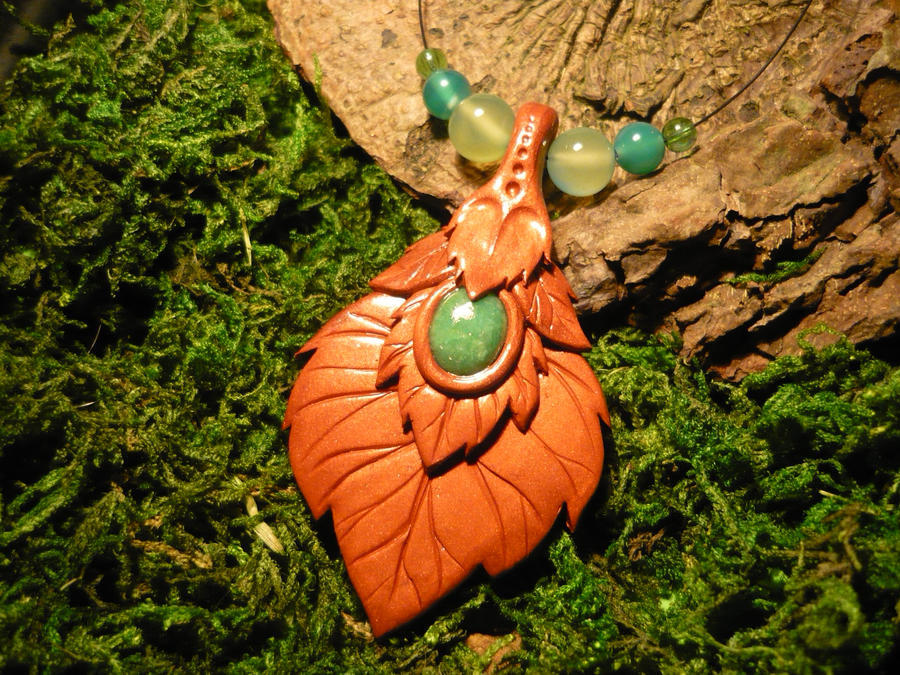 Whisperleaves Talisman - handmade Necklace I by Ganjamira