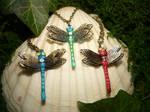 Dragonfly Swarm - handmade Pendants