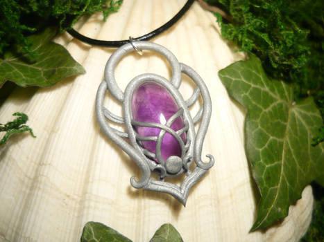 Amethyst Aura - handmade Amulet with Amethyst