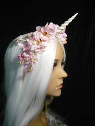 Spirit of Spring - Unicorn Circlet with Flowers by Ganjamira