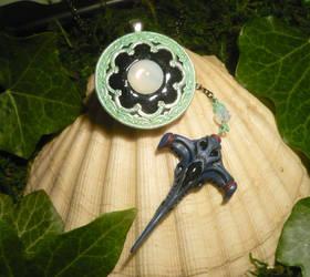 Wraith are Neverending - Amulet + Miniature Dart by Ganjamira