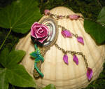 Enchanted Rose and Magic Mirror - BatB Necklace