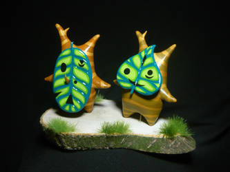 Korok Friends - Makorus and Daz Figurine by Ganjamira