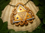 Exalted Triforce - Pendant with real Gems by Ganjamira