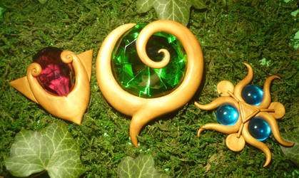 Spiritual Stones - Zelda: Ocarina of Time by Ganjamira