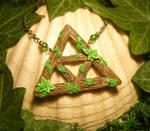 Triforce of the Lost Woods - handmade Pendant by Ganjamira