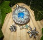 Frozen Heart - handmade Amulet