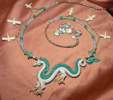 Spirited Away: Haku the Dragon - handmade Necklace by Ganjamira