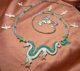 Spirited Away: Haku the Dragon - handmade Necklace