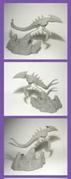 Bleak Barrens Sliver - Unpainted Sculpture by Ganjamira