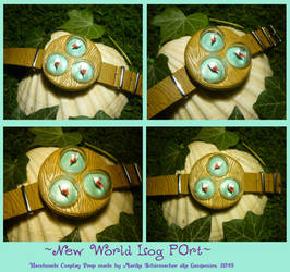 New World Log Port - handcrafted Prop by Ganjamira