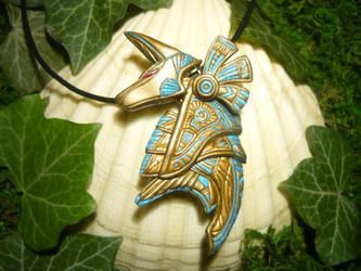 Anubis Guard - handsculpted Pendant by Ganjamira