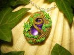 Soul of the Forest - handmade Locket Medaillon by Ganjamira