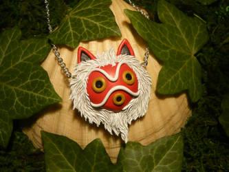 Mononoke Hime - handmade Pendant by Ganjamira
