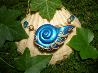 Seashell of the Wavesummoner - handmade Necklace
