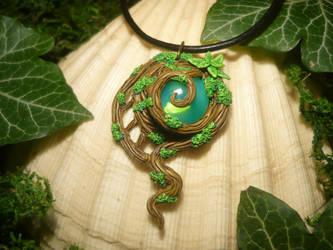 Captured Will O' Whisp - handmade Pendant
