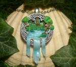Sacred Waterfall III - handmade Pendant