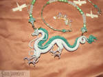 Haku the Dragon - handmade Necklace