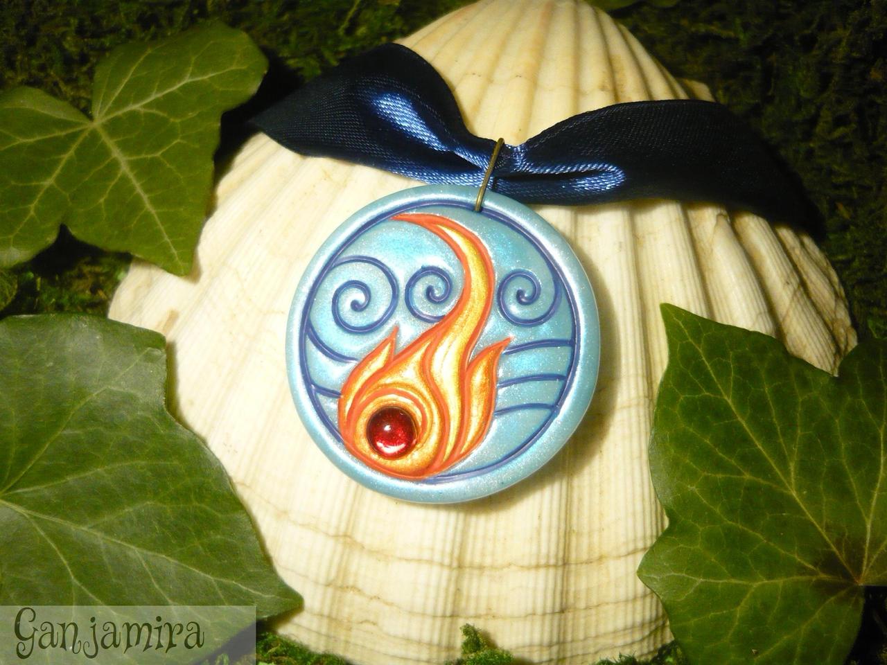 Ocean and Inferno - Zutara Necklace