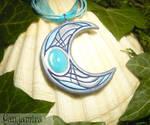 Moon of Rising Tides - handmade Pendant