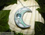 Lotus Moon - handmade Amulet